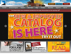 Big ad on our website for the new library catalog