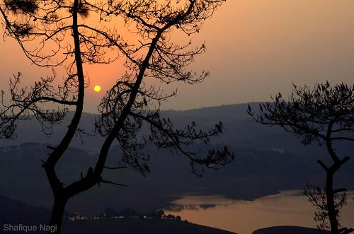 sunset india landscapes meghalaya