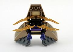 6865 Captain America's Avenging Cycle - Chitauri Speeder Rear