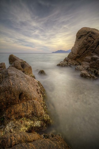 sea mer seascape france beach nature water rock canon landscape photography eos bay coast photo sand eau long exposure riviera cannes pierre shoreline sable sigma wideangle playa côte côtedazur paca explore shore 7d coastline provence 1020mm paysage plage var bocca hdr rocher jetée hoya baie nd400 littoral photomatix provencealpescôtedazur philippesaire