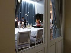 Mesa de la cena en la Terraza del Casino de Madrid