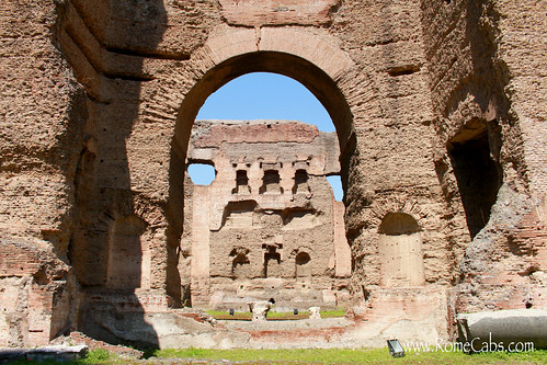 Baths of Caracalla on Seven Wonders of Ancient Rome with Stefano's RomeCabs