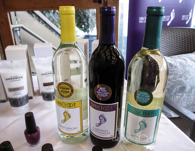 Barefoot Wines at the spa service area