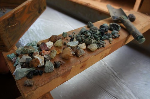 Mining for gemstones in Hiddennite, NC. by BuzzFarmers