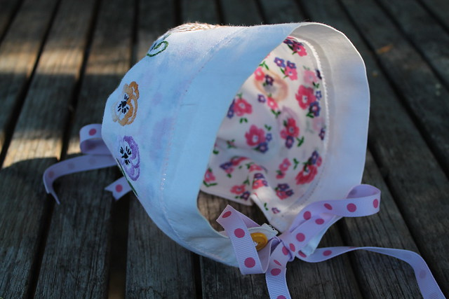 A Bonnet Made from a Vintage Dresser Scarf