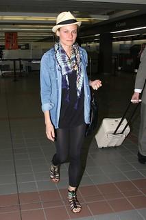 Diane Kruger Denim Shirt Celebrity Style Woman's Fashion