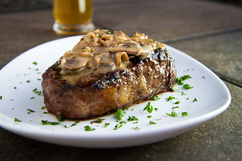 Filet with Whiskey Mushroom Sauce
