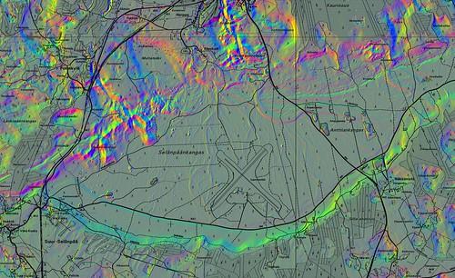 finland dtm dem shaded valkeala topography lidar vuohijärvi laserkeilaus airbornelaserscanning 1pix2m ©nls2012 selänpäänkangas