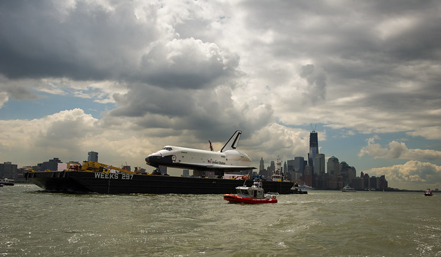Space Shuttle Enterprise Move to Intrepid (201206060005HQ)