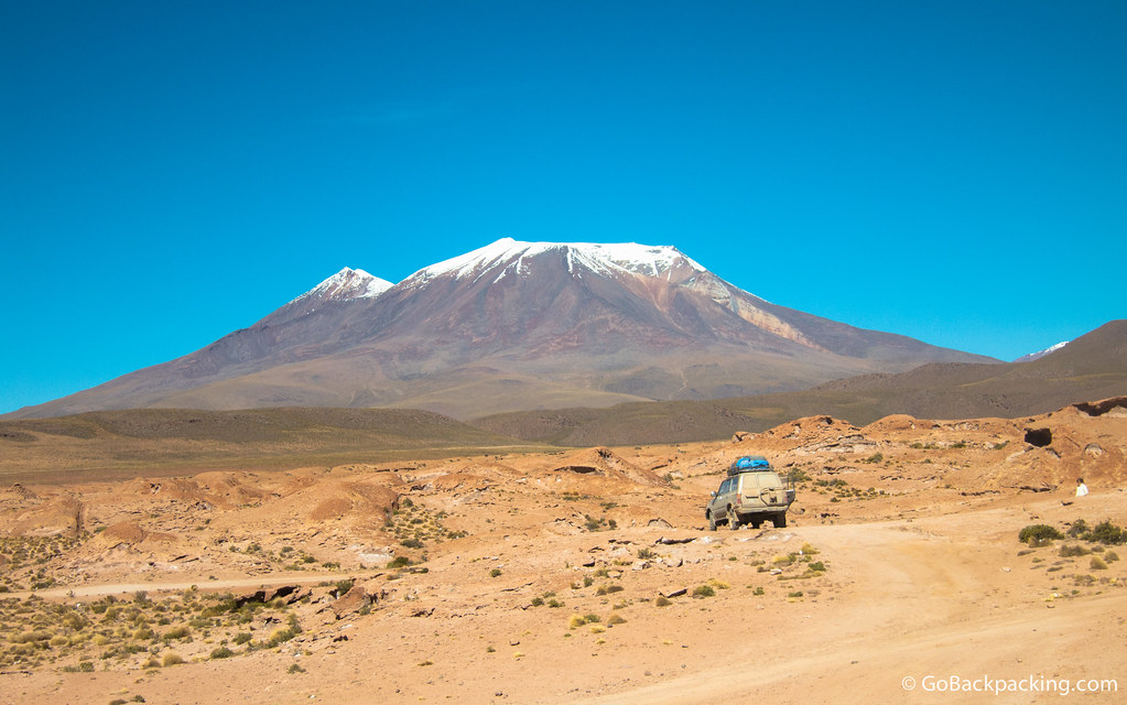 Scenery like this is the norm when crossing the Bolivian Altiplano