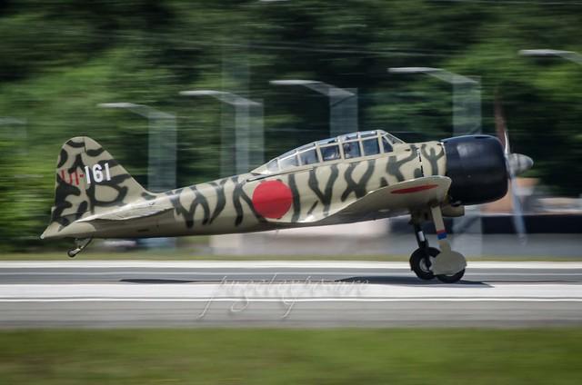 Tail rise of Mitsubishi A6M3-22 (Zeke/Zero) N3852