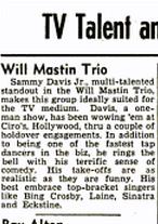 Sammy at Ciro's Billboard May 5, 1951