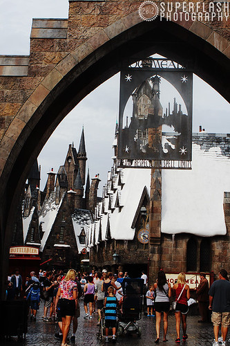 First glimpse at Hogsmeade!
