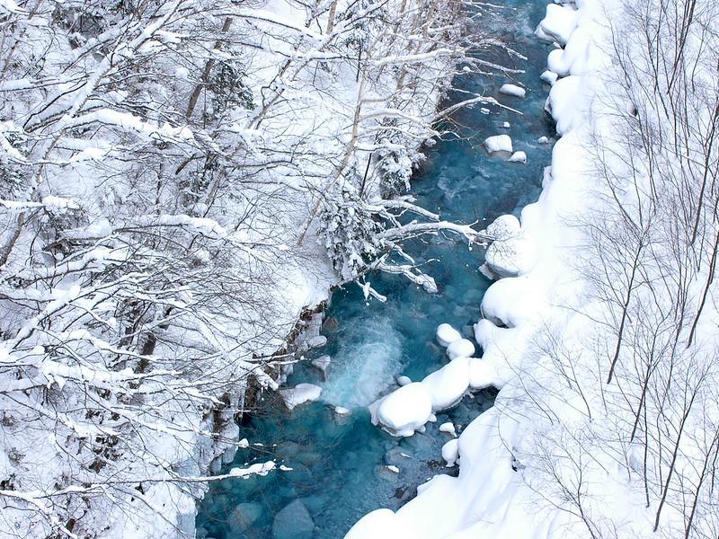 Reasons to visit Asia in the winter: Winter hotsprings in Biei, Hokkaido, Japan