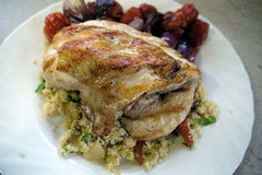 Grilled Chicken with Apricot Couscous and Roast To…