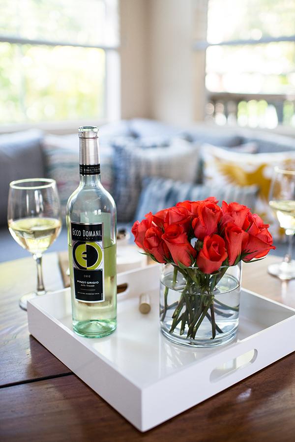 eatsleepwear, ecco-domani-wine, flowers
