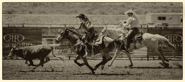 Team Roping, Old West Look