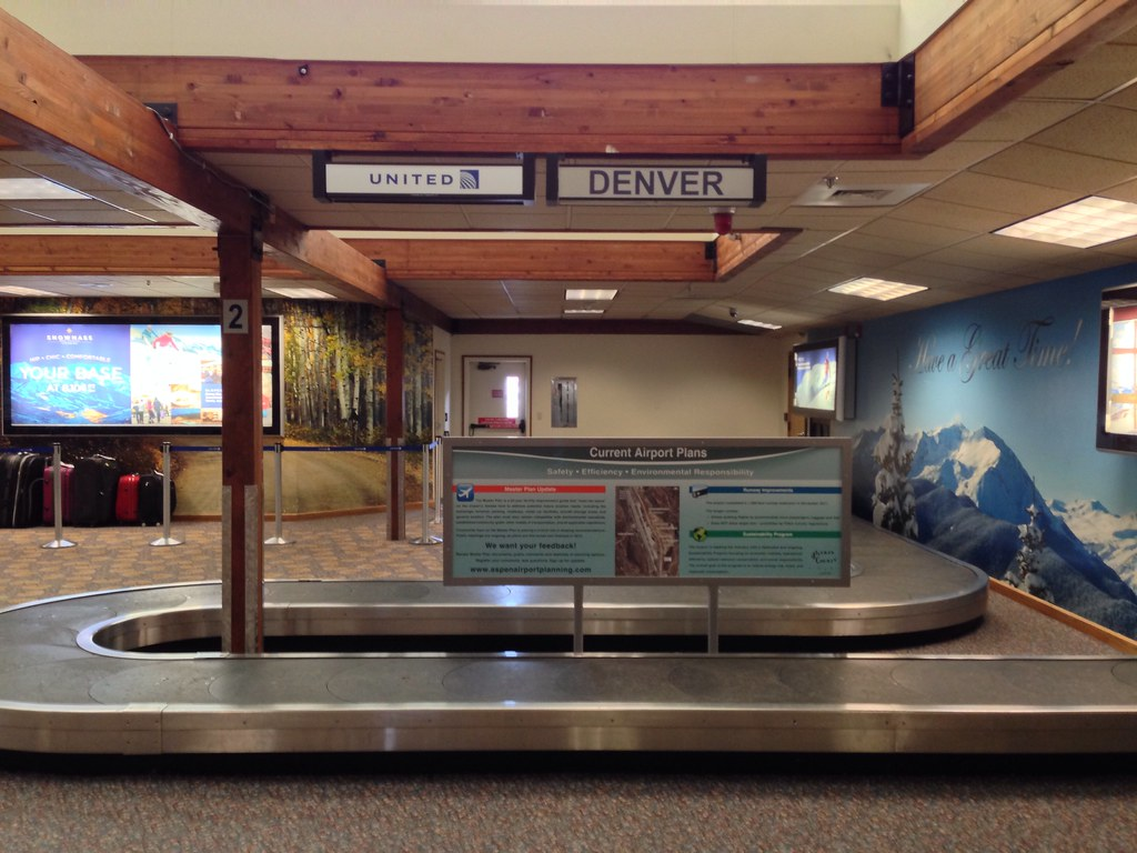 Baggage claim at Aspen Pitkin airport ASE