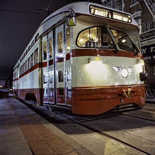 Detroit PCC Car Getting Ready to Leave 17th & Market Station