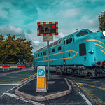 Prototype Deltic DP1 at Preston Dock Strand Road Level Crossing14.09.2015 Awesome Angle Retro  Eavening PhotoShoot