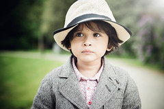 kids with a hat