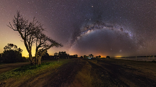 astro astrophotography astronomy stereographic point herron tree milkyway mandurah perth westernaustralia night nightscape nik color efex pano panorama