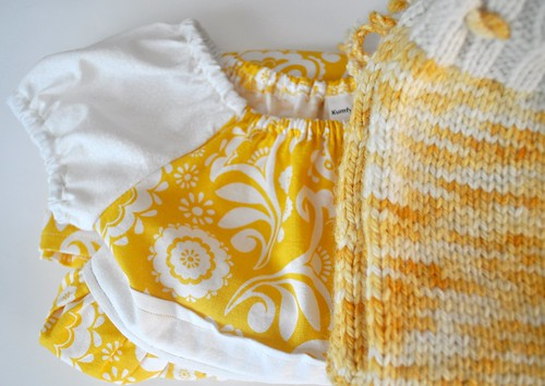 Sunshine Paisley Peasant Dress and Bloomers Set