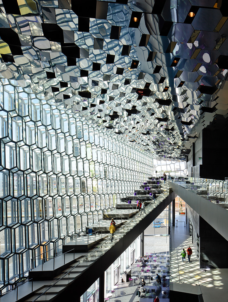Inside Harpa Concert Hall in Iceland [776×1024] Photographed by Pedro Kok