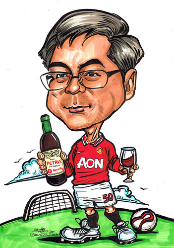 Manchester United caricature for Mastercard