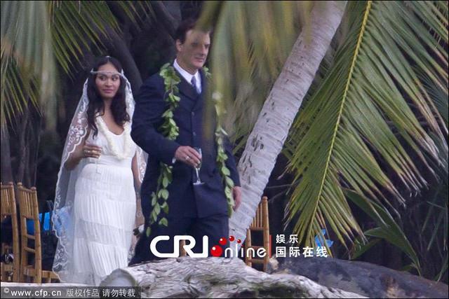 Chris Noth and Tara Wilson wedding