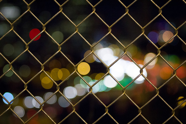 Fenced in bokeh