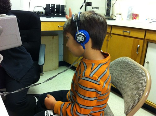 Hearing test at 5 yr checkup