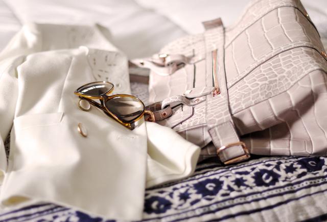 kooba sabrina bag -gucci sunglasses-vintage blazer