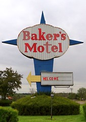OH, Norwich-U.S.40 Baker's Motel Sign