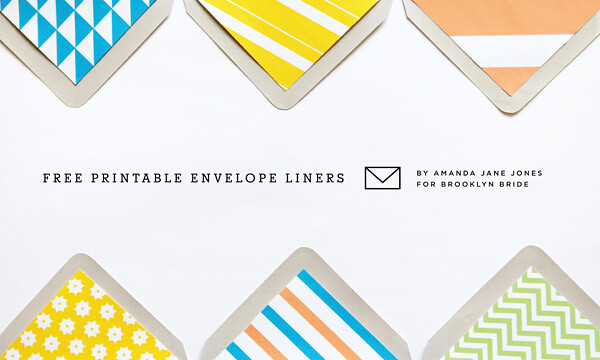 ENVELOPE LINERS by Amanda Jane Jones