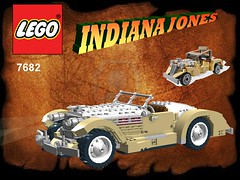 Lego Indiana Jones - Shanghai Chase Nr. 7682 recreated - Auburn 851 Boat Tail Speedster