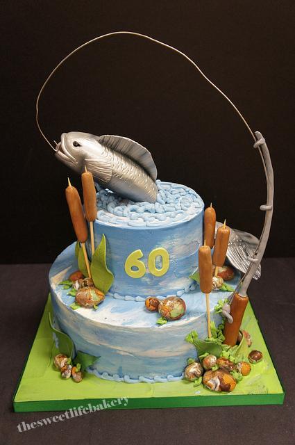 Fishing cake flickr photo sharing for Fishing birthday cake