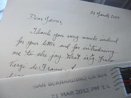 Letter on G. Lalo