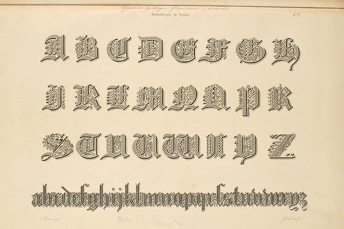010-Alphabet-Album collection de soixante feuilles d'alphabets historiés 1843- Joseph-Balthazar Silvestre