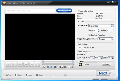 برنامج تحويل صيغ الفيديو الي صور و صيغ GIF المتحركه Aoao Video to GIF Converter 2.6