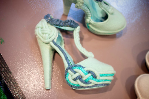 Knitted high heels by Fred Butler & Rosy Nicholas