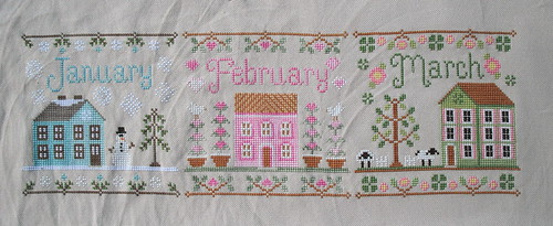 Cottage Stitch-along Progress by jenniferworthen