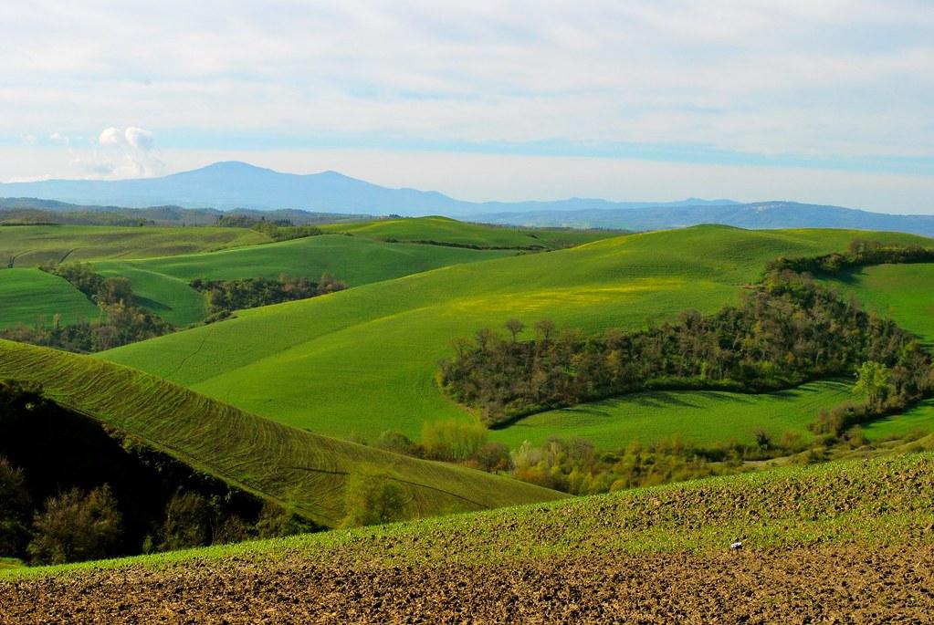 E sullo sfondo il Monte Amiata
