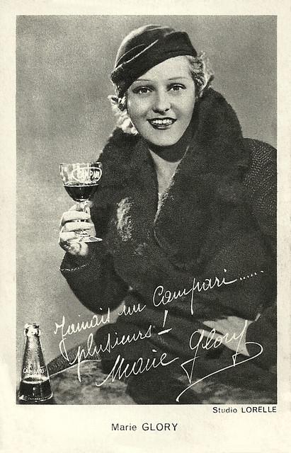 Marie Glory, publicity for Campari