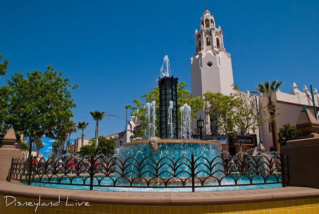 Buena Vista Street Construction - Carthay Circle Fountain
