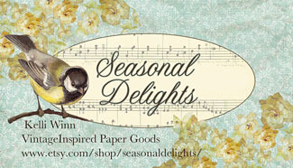SeasonalDelightsBusinessCardFrontExample