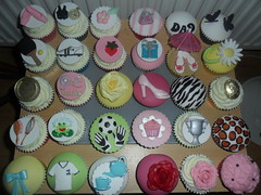selection 3d cupcakes