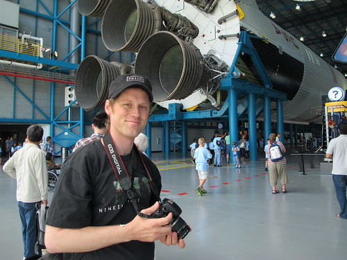 Kennedy Space Center: Matt with the Saturn V