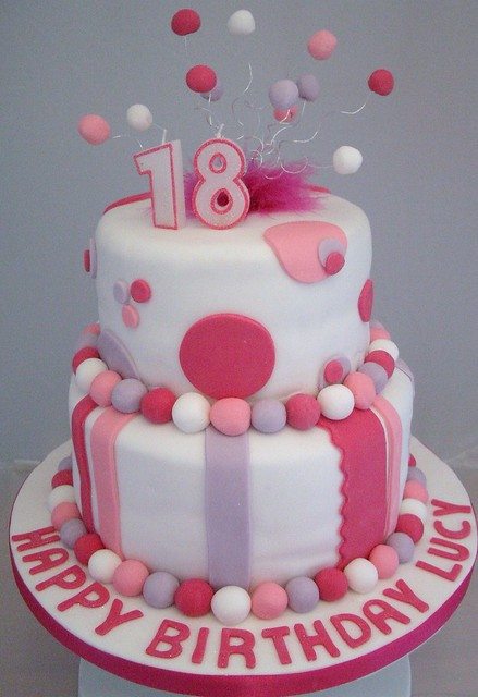 Cake Images For 18th Birthday : Funky pink 18th Birthday Cake Flickr - Photo Sharing!