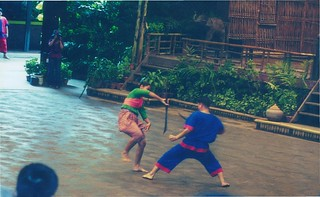 Thai sword fighting